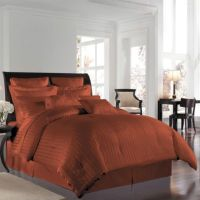 Wamsutta 500 Damask Comforter Set in Rust - Bed Bath & Beyond