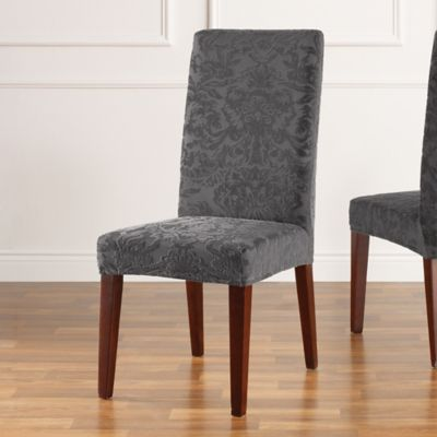 Buy Sure Fit Stretch Jacquard Damask Short Dining Chair