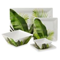 Poolside Palms Melamine Square Dinnerware Collection - Bed ...