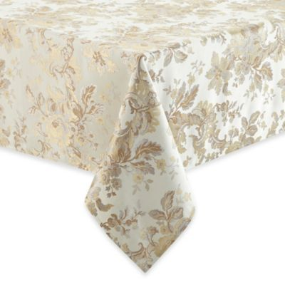 Waterford Linens Marcelle Tablecloth In Ivory Bed Bath
