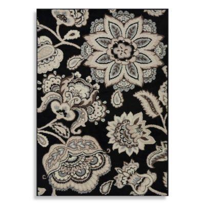 Westwood Floral Accent Rug In Black Bed Bath Amp Beyond