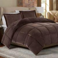 Mink Faux Fur Comforter Set in Chocolate - Bed Bath & Beyond
