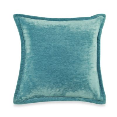 Velvet 20Inch Throw Pillow in Turquoise  Bed Bath  Beyond