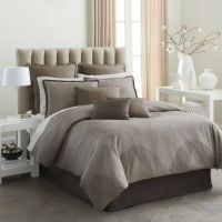Modern Living Mercer Comforter Set in Mocha - Bed Bath ...