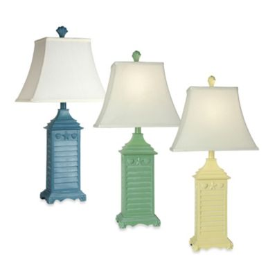 Coastal Shutter Table Lamp Bed Bath Amp Beyond