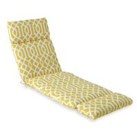 Chaise Cushion in Yellow Trellis - Bed Bath & Beyond