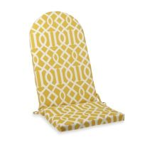 Adirondack Cushion with Ties in Yellow Trellis - Bed Bath ...
