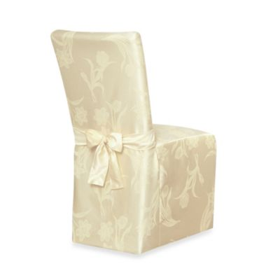 Spring Blossoms Damask Dining Room Chair Cover  www