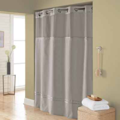 "Buy Hookless 74"" Fabric Shower From Bed Bath & Beyond"