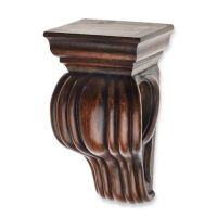 Buy Cambria Classic Wood Drapery Sconce in Dark Brown ...