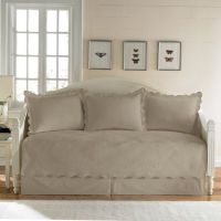 Matelasse Daybed Bedding Set in Taupe - Bed Bath & Beyond