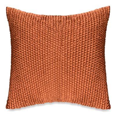 Wicker Throw Pillow in Rust  Bed Bath  Beyond