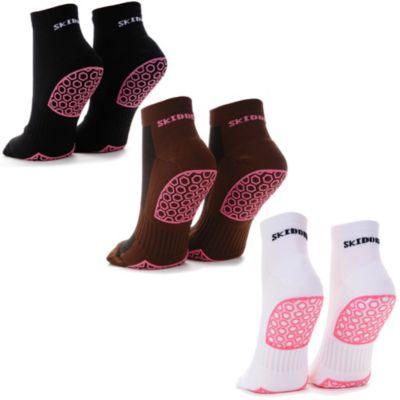 Skidders Womens FitnessYoga Gripper Socks Bed Bath