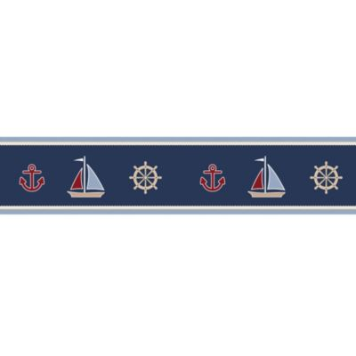 Sweet Jojo Designs Nautical Nights Wallpaper Border Bed