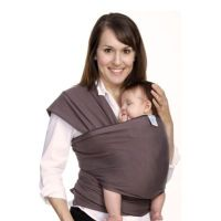 Moby Wrap Classic Modern Baby Carrier in Slate with Black ...
