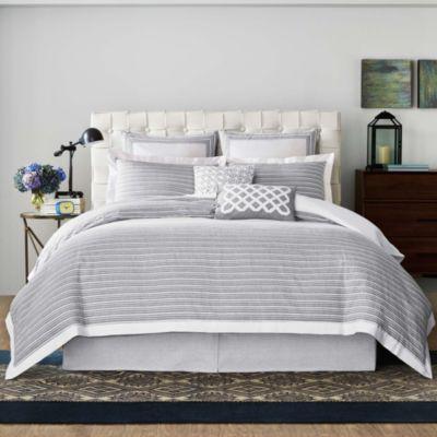 Real Simple Soleil Duvet Cover in Grey  Bed Bath  Beyond
