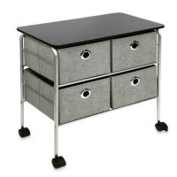 4-Drawer Rolling Night Stand in Grey - Bed Bath & Beyond