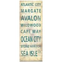 Buy South Jersey Shore Places Canvas Wall Art from Bed ...