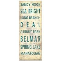 North Jersey Shore Places Canvas Wall Art - Bed Bath & Beyond