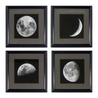 Moon Phases Wall Art (Set of 4)