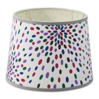 Mix & Match Medium 12-Inch Dotted Drum Lamp Shade in ...