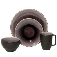 Baum Nuit 16-Piece Dinnerware Set in Plum - Bed Bath & Beyond