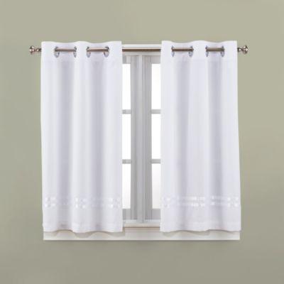 Hookless® Escape 45 Inch Bath Window Curtain Panels Bed Bath