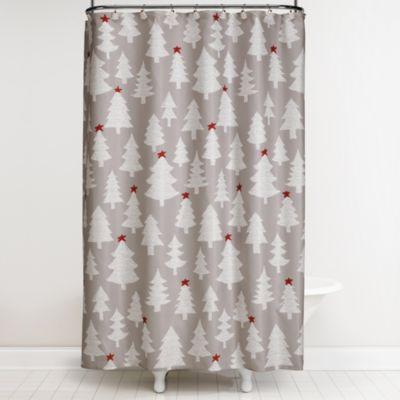 Winter wonderland 70 inch x 72 inch shower curtain and hook set