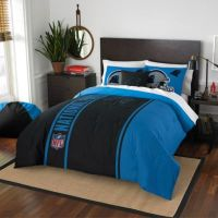 Buy NFL Carolina Panthers Full Embroidered Comforter Set ...