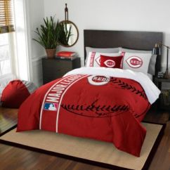 Brand New Kitchen Cost Cheap Carts Sale Mlb Cincinnati Reds Bedding - Bed Bath & Beyond