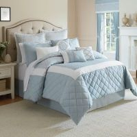 Winslet Comforter Set in Blue - Bed Bath & Beyond