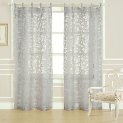 Laura Ashley Rothbury 84Inch Burnout Window Curtain