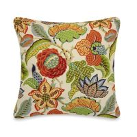 Multi-Colored Floral Throw Pillow - Bed Bath & Beyond