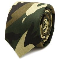Cotton Camouflage Skinny Tie - Bed Bath & Beyond