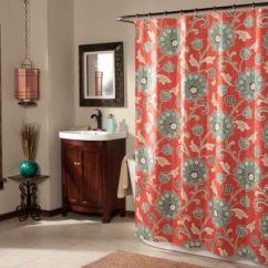 Brand New Kitchen Cost Countertops Orlando Ankara Shower Curtain In Cinnabar - Bed Bath & Beyond