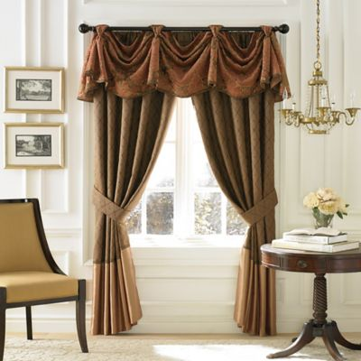 Croscill Couture Palazzo Window Curtain Panel and Valance