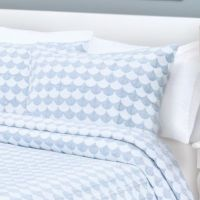 Finley Pillow Sham in Blue/White