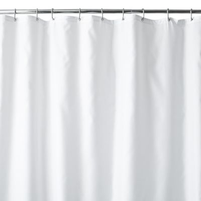 Hotel Fabric 70 Inch X 84 Inch Long Shower Curtain Liner In White