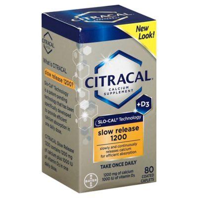 Buy Citracal Calcium + D3 80-Count Slow Release 1200 ...