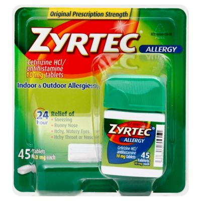 Zyrtec 45-Count 10 mg Tablets - Bed Bath & Beyond