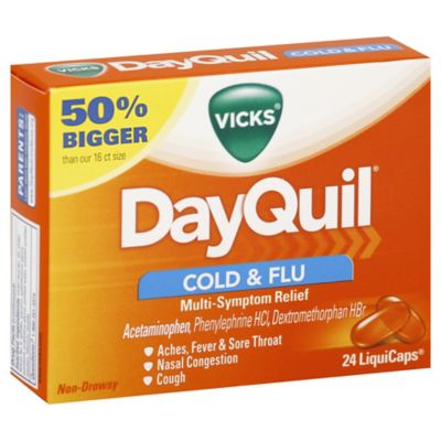 Vicks DayQuil 24Count NonDrowsy MultiSymptom Cold