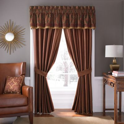 Croscill Avellino Window Curtain Panel and Valance  Bed