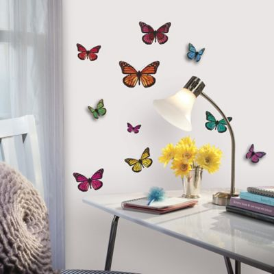 Buy RoomMates 3D Butterflies Peel Amp Stick Wall Decals From