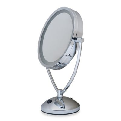 1x/10x Magnifying Lighted Chrome Vanity Mirror