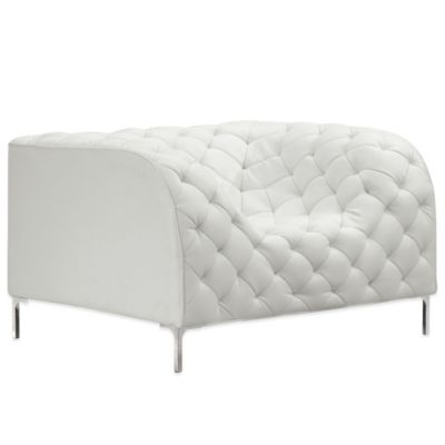 white tufted chair covers by sylwia website buy bed bath beyond zuo modern providence arm in
