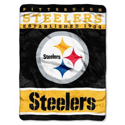 NFL Pittsburgh Steelers Strike Raschel Oversized Throw