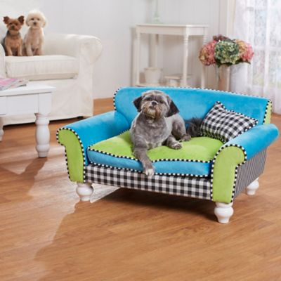 enchanted home mackenzie pet sofa sure fit stretch pique slipcover dog bed - bath & beyond