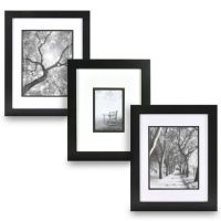Real Simple Black Wood Wall Frame with White Over Black ...