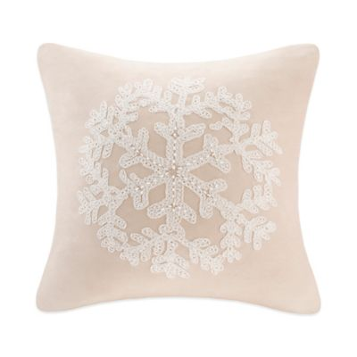 Snowflake Square Throw Pillow  Bed Bath  Beyond