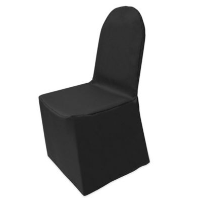 black banquet chair covers for sale swinging egg buy chairs bed bath beyond basic polyester cover in